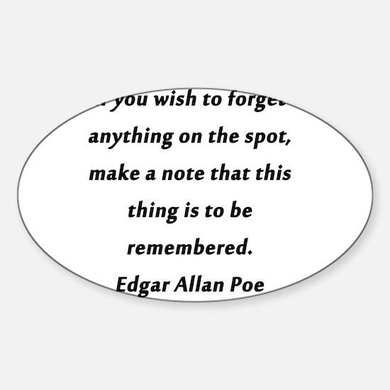 Forgetfullness Poe Sticker (Oval)