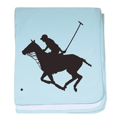 Polo Pony Silhouette baby blanket