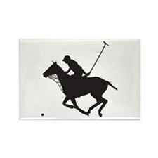 Polo Pony Silhouette Rectangle Magnet (100 pack)