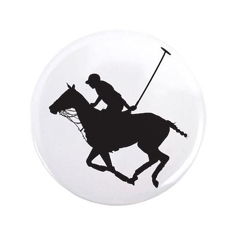 """Polo Pony Silhouette 3.5"""" Button"""