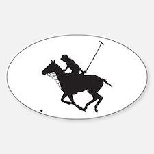 Polo Pony Silhouette Sticker (Oval)
