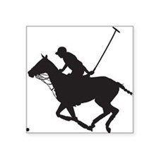 "Polo Pony Silhouette Square Sticker 3"" x 3"""