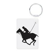 Polo Pony Silhouette Aluminum Photo Keychain