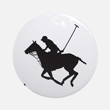 Polo Pony Silhouette Ornament (Round)