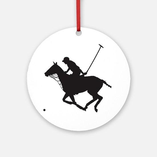 Polo Pony Silhouette Ornament (Round)