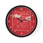 Pray Rosary Wall Clock