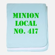 Minion Local No. 417 baby blanket