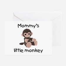 Mommy's little monkey (brown) Greeting Cards (Pack