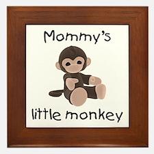 Mommy's little monkey (brown) Framed Tile