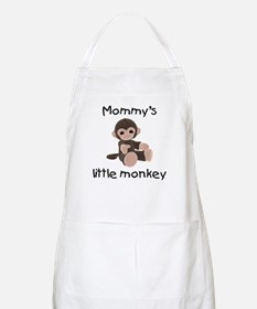 Mommy's little monkey (brown) BBQ Apron