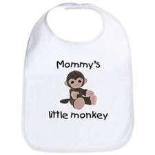 Mommy's little monkey (brown) Bib