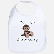 Mommy's little monkey (brown) Bib