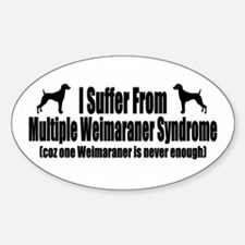 Weimaraner Sticker (Oval)