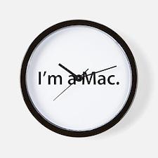 """""""I'm a Mac."""" Wall Clock"""