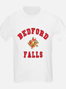 Bedford Falls w Christmas Bells Kids T-Shirt