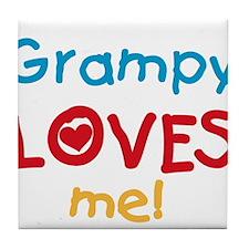 Grampy Loves Me Tile Coaster