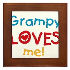 Grampy Loves Me Framed Tile