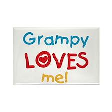 Grampy Loves Me Rectangle Magnet