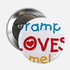 "Grampy Loves Me 2.25"" Button"