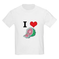 I Heart (Love) Watermelon Kids T-Shirt