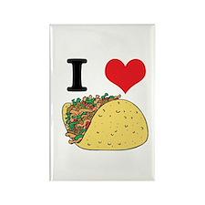 I Heart (Love) Tacos Rectangle Magnet