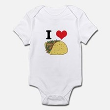 I Heart (Love) Tacos Infant Bodysuit
