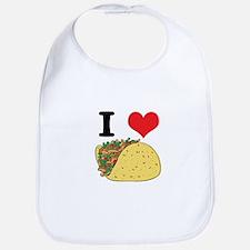 I Heart (Love) Tacos Bib