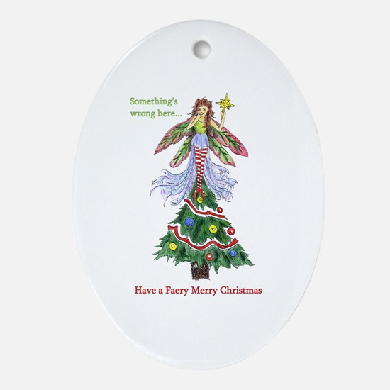 Pixie Tree-Topper Oval Ornament