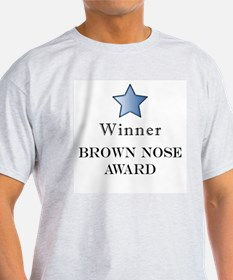 The Best Brown Nose Award - Ash Grey T-Shirt