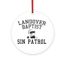 Sin Patrol Ornament (Round)