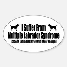 Labrador Retriever Sticker (Oval)