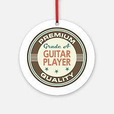 Guitar Player Vintage Ornament (Round)