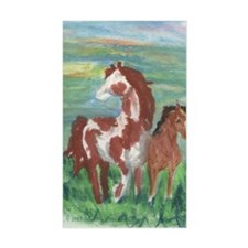 Horse And Colt Gift Rectangle Sticker