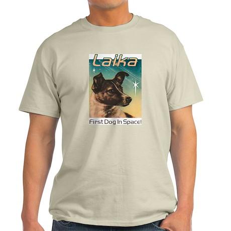 LAIKA Cosmonaut dog! Ash Grey T-Shirt