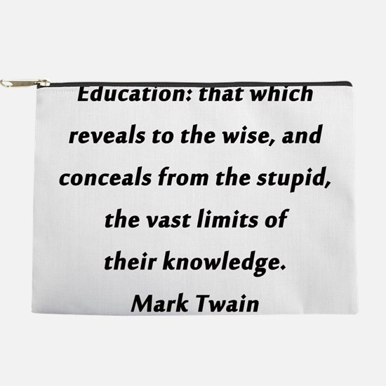 Twain On Education Makeup Pouch