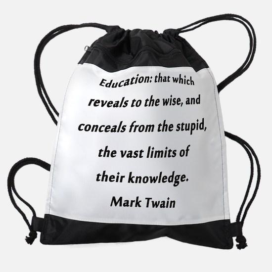 Twain On Education Drawstring Bag