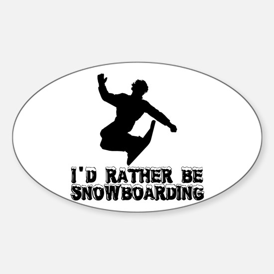 Snowboarding Oval Decal