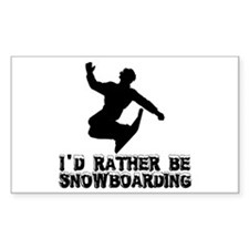 Snowboarding Rectangle Decal