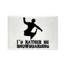 Snowboarding Rectangle Magnet