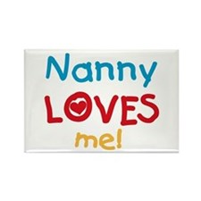 Nanny Loves Me Rectangle Magnet