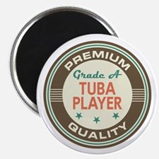 Tuba Player Vintage Magnet