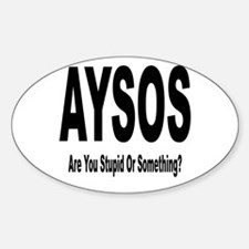 AYSOS Oval Decal