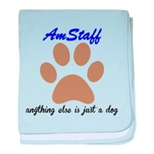 Just A Dog AmStaff baby blanket