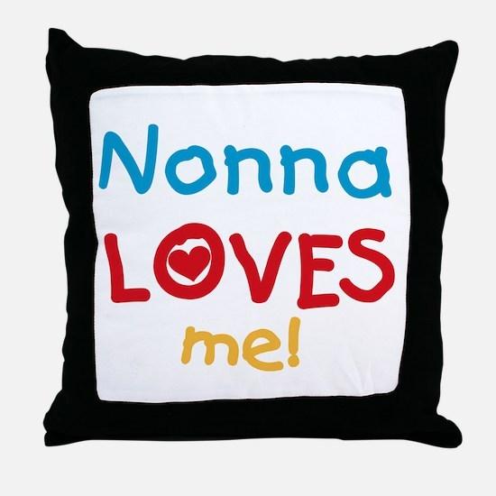 Nonna Loves Me Throw Pillow