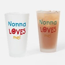 Nonna Loves Me Drinking Glass