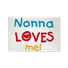 Nonna Loves Me Rectangle Magnet