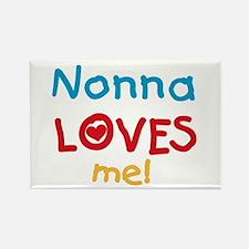 Nonna Loves Me Rectangle Magnet