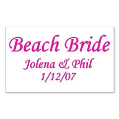Personalized Beach Bride - Jo Sticker (Rectangular