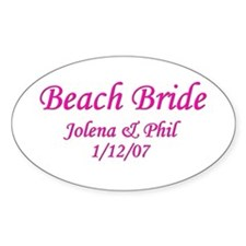 Personalized Beach Bride - Jo Oval Decal