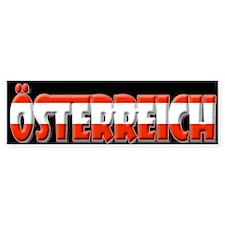 Word Art Flag of Oesterreich Bumper Bumper Sticker